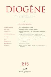 Claude Lévi-Strauss et Henri Atlan - Diogène N° 215, Juillet-Sept : La dignité en question.