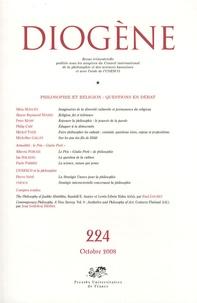 Silvia Mancini et Aloyse-Raymond Ndiaye - Diogène N° 224, Octobre 2008 : Philosophie et religion : questions en débat.