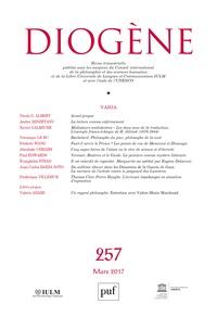 Maurice Aymard - Diogène N° 257, mars 2017 : Varia.