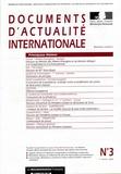 Ministère Affaires Etrangères - Documents d'actualité internationale N° 3, 1er février 20 : .