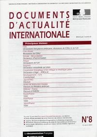 Ministère Affaires Etrangères - Documents d'actualité internationale N° 8, 15 avril 2004 : .