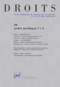Philippe Raynaud et Charles Leben - Droits N° 37 : Michel Troper.