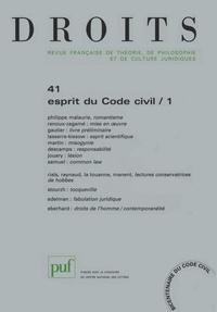 Philippe Malaurie et Marie-France Renoux-Zagamé - Droits N° 41/2005 : Esprit du Code civil - Tome 1.