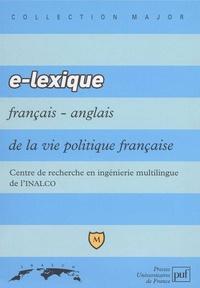 Jean-Michel Daube et  INALCO - E-lexique français-anglais de la vie politique.