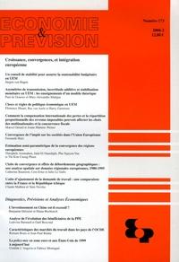 Jürgen von Hagen et Paul De Grauwe - Economie et prévision N° 173/2006 : Croissance, convergences, et intégration européenne.
