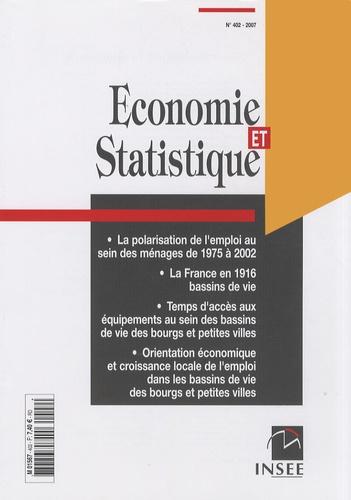INSEE - Economie et statistique N° 402/2007 : .