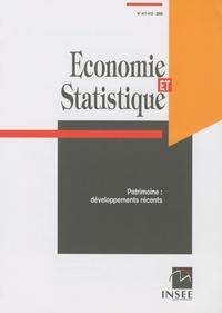 Pierre Morin - Economie et statistique N° 417-418, 2008 : Patrimoine : développements récents.