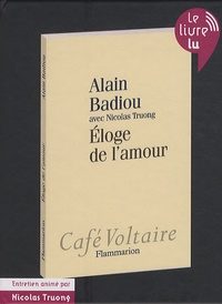 Alain Badiou - Eloge de l'amour. 1 CD audio