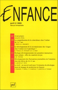 Jacqueline Nadel et Hélène Gratiot-Alphandéry - Enfance N° 2, Volume 57, Avr : .