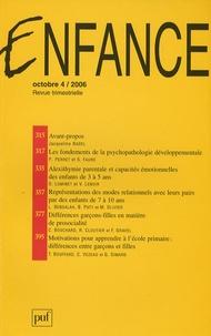 Patrick Perret et Jacqueline Nadel - Enfance N° 58/4, Octobre 200 : .