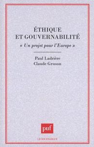 """Paul Ladrière et Claude Gruson - Ethique et gouvernabilité - """"Un projet pour l'Europe""""."""