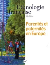 Martine Segalen - Ethnologie française N° 1, Janvier 2012 : Parentés et paternités en Europe.
