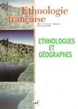 Marie-Claire Robic - Ethnologie française N° 4, Octobre-Décemb : Ethnologie et géographie.