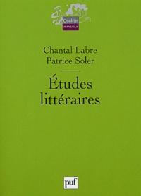 Chantal Labre et Patrice Soler - Etudes littéraires.