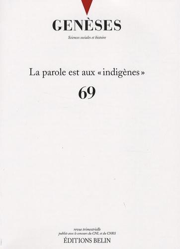 """Emmanuelle Saada et Jean-Hervé Jézéquel - Genèses N° 69, Décembre 2007 : La parole est aux """"indigènes""""."""