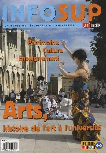 ONISEP - Infosup N° 225 ; janvier-fév : Patrimoine, Culture, Enseignement, Arts, histoire de l'art à l'université.