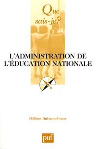 Hélène Buisson-Fenet - L'administration de l'Education nationale.