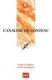 André-D Robert et Annick Bouillaguet - L'analyse de contenu.
