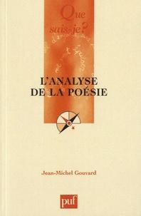 Jean-Michel Gouvard - L'analyse de la poésie.