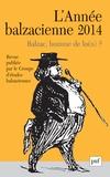 Nathalie Preiss - L'Année balzacienne N° 15/2014 : Balzac, homme de loi(s) ?.