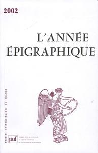 Mireille Corbier - L'Année épigraphique 2002.