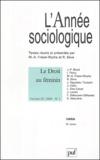 Marie-Anne Frison-Roche et René Sève - L'Année sociologique Volume 53 N° 1/2003 : Le droit au féminin.