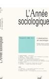 Pierre Demeulenaere et Gianluca Manzo - L'Année sociologique Volume 57/2007-N° 1 : L'abstraction en sociologie - Tome 2.