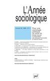 Jacques Commaille et Patrice Duran - L'Année sociologique Volume 59 N° 2/2009 : Pour une sociologie politique du droit - Tome 2.