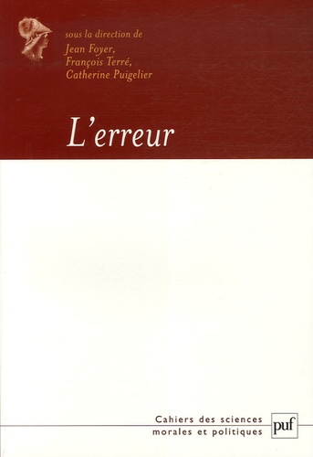 Pascale Deumier et Jeanne Tillhet-Pretnar - L'erreur.