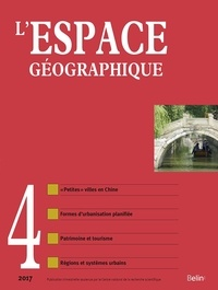 Belin - L'espace géographique N° 4/2017 : .