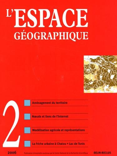 Gilles Puel - L'espace géographique Tome 35 N° 2, avril- : Réseaux et territoires.