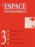 Belin - L'espace géographique Tome 43 N° 3, Juille : .