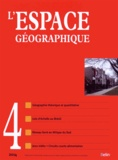 Belin - L'espace géographique Tome 43 N° 4, Octobr : .