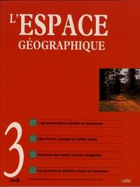 Olivier Orain et Catherine Rhein - L'espace géographique Tome 47 N° 3, juille : .