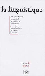 Robert Damoiseau - La linguistique N° 43, fascicule 2,  : .