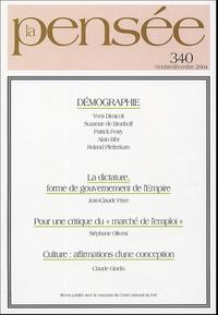 Antoine Casanova et  Collectif - La Pensée N° 340, Octobre/Déce : Démographie.