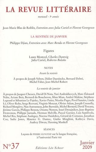 Richard Millet - La Revue littéraire N° 37, janvier 2009 : .