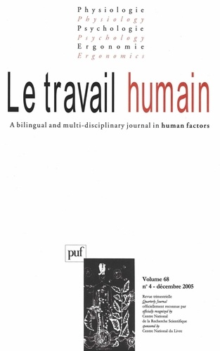 Yves Clot et J Leplat - Le travail humain Volume 68 N° 4, Déce : .