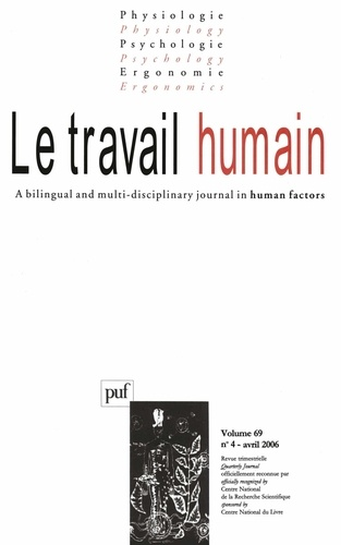 Philippe Castel - Le travail humain Volume 69 N° 4, Octo : .