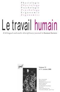 S Bagnara et Estelle Michinov - Le travail humain Volume 71 N° 4, Octo : .