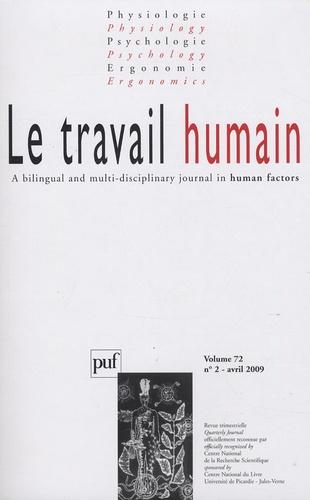 François Danielou et Jean-Michel Hoc - Le travail humain Volume 72 N° 2, Avri : .