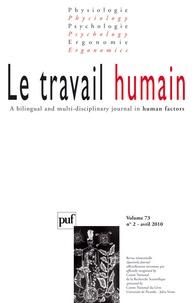 Michel Prigent - Le travail humain Volume 73 N° 2, Avri : .
