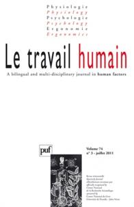 Alain Morvan - Le travail humain Volume 74 N° 3, Juil : .