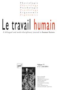 Monique Labrune - Le travail humain Volume 77 N° 2, Avri : .