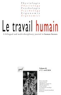 Frédéric Mériot - Le travail humain Volume 81 N° 2, avri : .