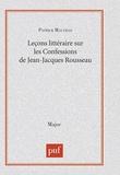 """Patrick Malville - Leçon littéraire sur """"Les confessions"""" de Jean-Jacques Rousseau."""