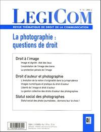 Jean-Yves Lassalle et Basile Ader - Legicom N° 34-2005/2 : La photographie : Questions de droit.