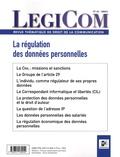 Jean Frayssinet - Legicom N° 42 : La régulation des données personnelles.