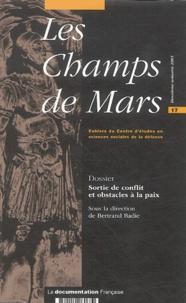 Bertrand Badie et Alexandra De Hoop Scheffer - Les Champs de Mars N° 1, Deuxième Semes : Sortie de conflit et obstacles à la paix.