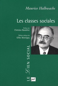 Maurice Halbwachs - Les classes sociales.